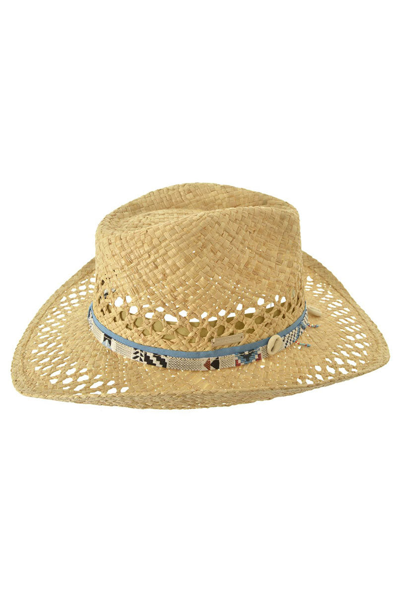 SEEBERGER Cowboy Hat In Raffia - Natural Straw Hat | Natural Straw|Cowboy Hat In Raffia - natural straw