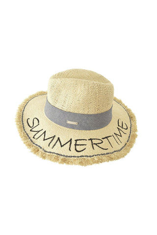 SEEBERGER Fedora With Fringed Brim - Natural Straw Hat | Natural Straw|Fedora W/ Fringed Brim -