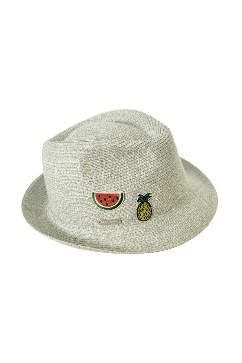 SEEBERGER Trilby W/ Patches - Natural Straw Hat | Natural Straw|