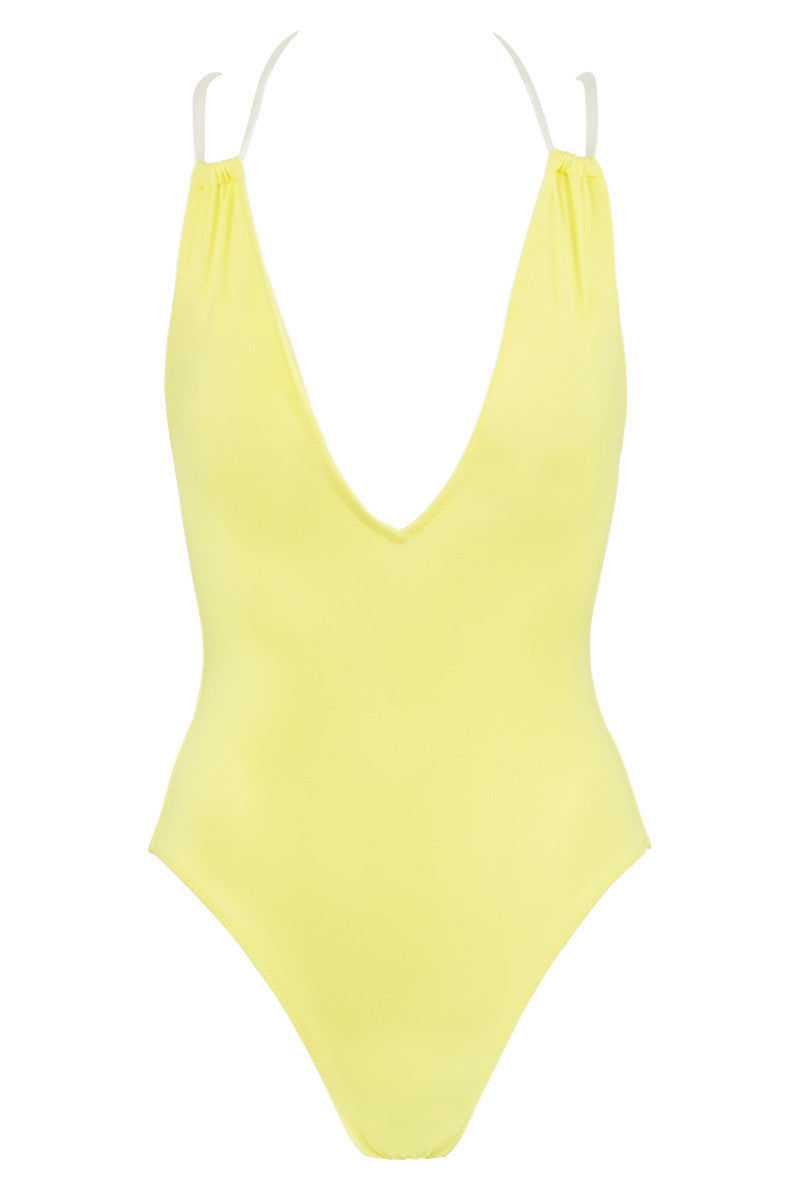 SOLID & STRIPED The Alexandra One Piece Swimsuit - Neon Yellow One Piece   Neon Yellow  Solid & Striped The Alexandra One Piece