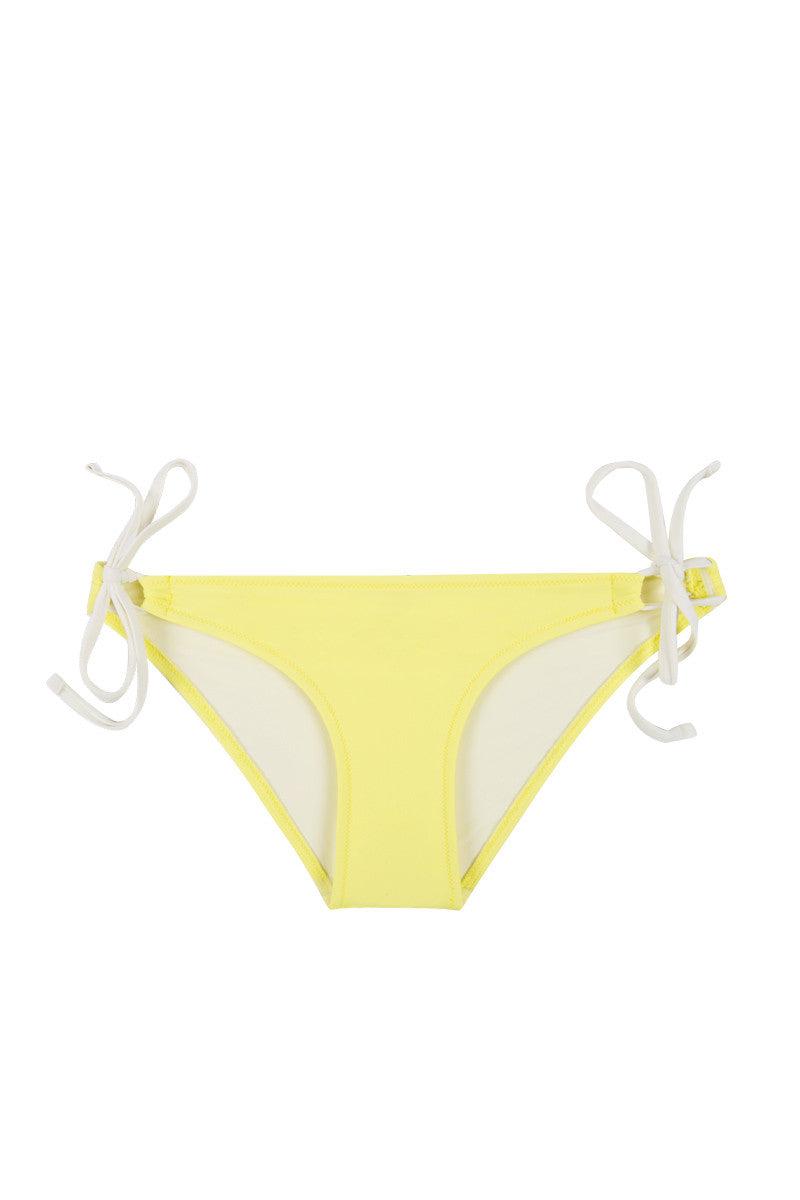 SOLID & STRIPED The Lily Double Strap Bikini Bottom - Solid Yellow Bikini Bottom   Yellow The Lily Double Strap Bikini Bottom