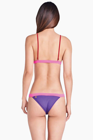f38521e93 ... TRIYA Splash Color Block Triangle Bikini Top - Royal Purple Hot Pink  Bikini Top