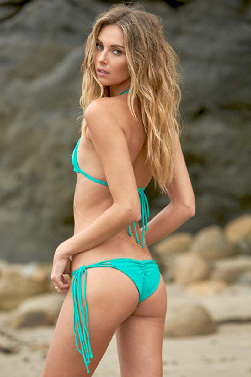 ELLEJAY Rio Braided Multi-Strap Bikini Top - Bali Bikini Top | Bali| Ellejay Rio Braided Multi-Strap Bikini Top - Bali. Features:  Multi-strap braided detail Ties at neck and back 80% Nylon, 20% Spandex Front View