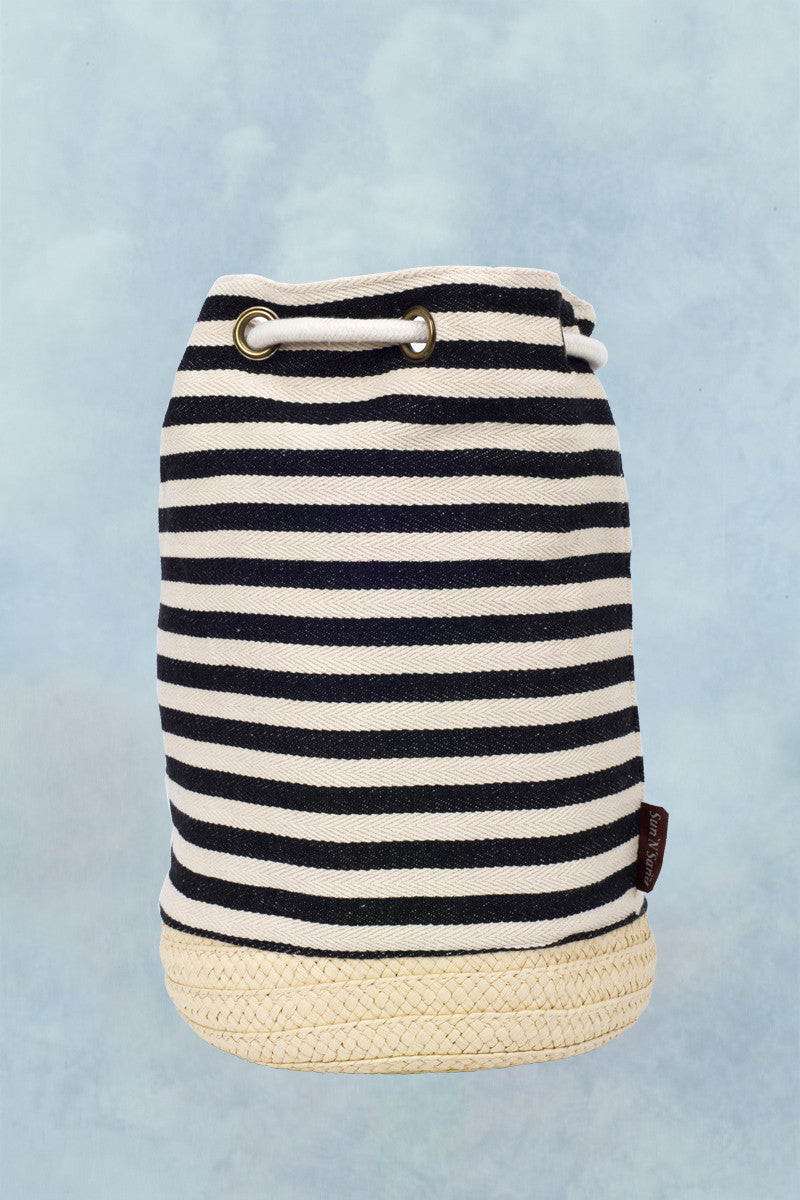SUN N SAND Salt Cay Backpack Accessories | Black Striped|