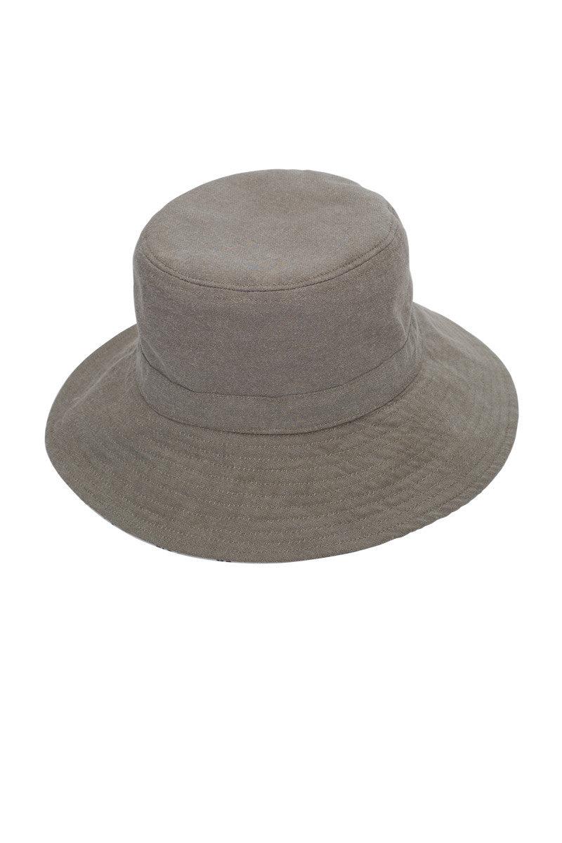 SUN N SAND Calypso Bucket Hat - Beige/White Print Hat | Beige/White Print|