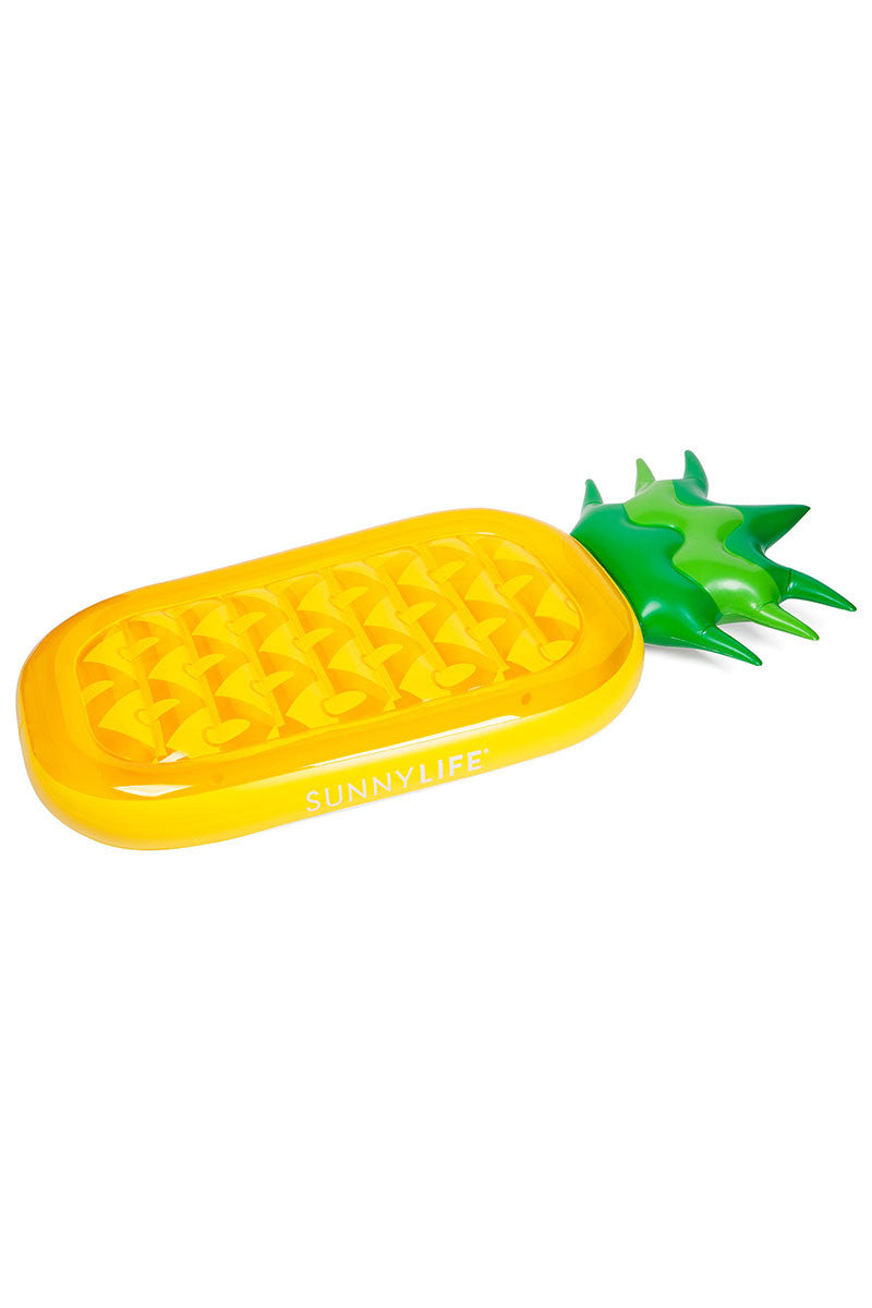 SUNNYLIFE Luxe Lie-On Pineapple Float Pool Accessories   Pineapple  Sunnylife luxe lie on pineapple float