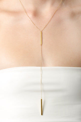 THATCH Christina Lariat Necklace Jewelry | Gold|
