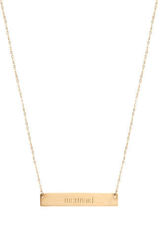 THATCH Mermaid Necklace Jewelry | Gold|