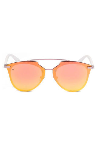 PRIVE REVAUX The Benz Unisex Aviator Mirrored Sunglasses - Pink Sunglasses | Pink| PRIVE REVAUX The Benz Unisex Aviator Mirrored Sunglasses - Pink