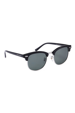 PRIVE REVAUX The Chairman Unisex Square Polarized Sunglasses - Dark Black Sunglasses | Dark Black| Prive Revaux The Chairman