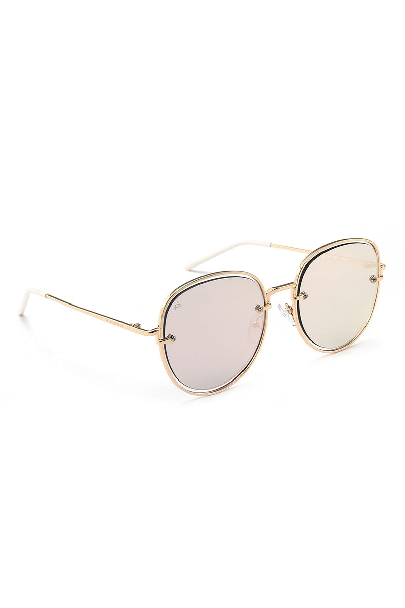 PRIVE REVAUX The Escobar Oval Aviator Sunglasses - Pink Sunglasses | Pink| Prive Revaux The Escobar- Pink