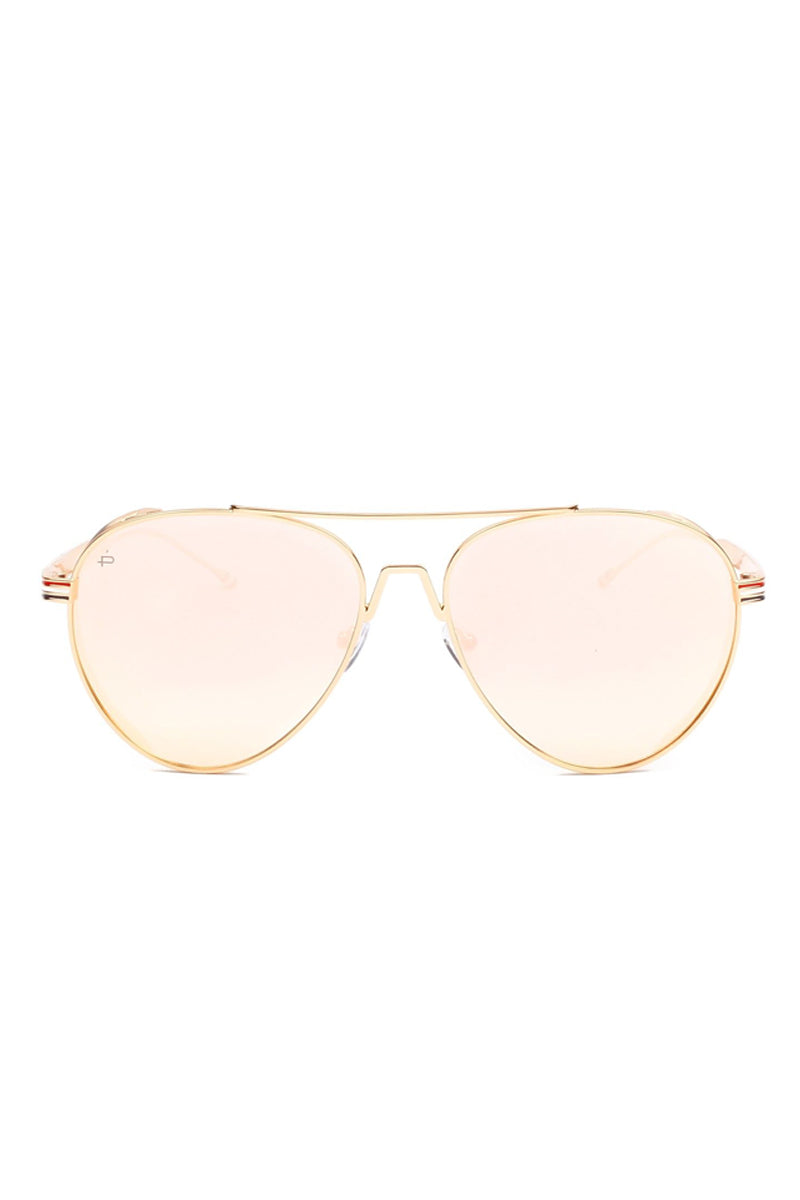 PRIVE REVAUX The G.O.A.T Unisex Polarized Aviator Sunglasses - Yellow Sunglasses   Yellow  Prive Revaux The G.O.A.T