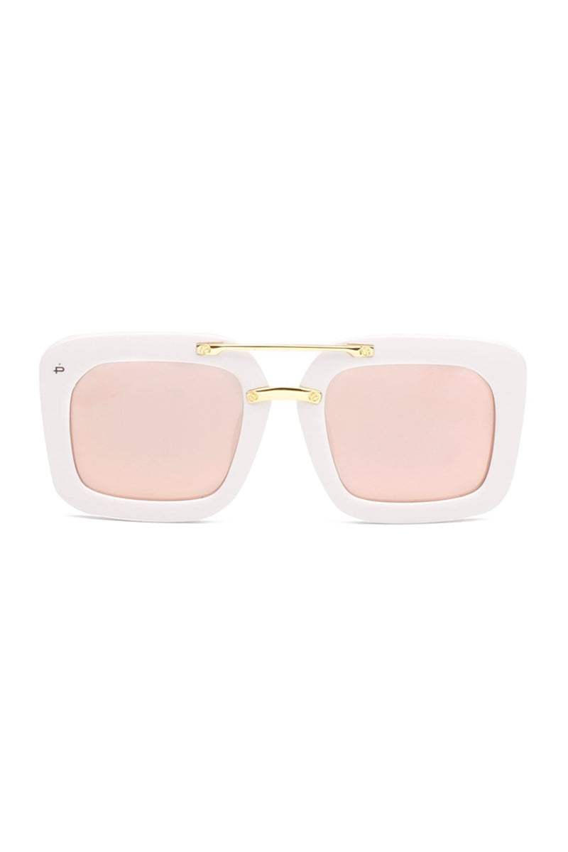 PRIVE REVAUX The Karl Oversized Square Polarized Sunglasses - White Sunglasses | White| Prive Revaux The Karl- White