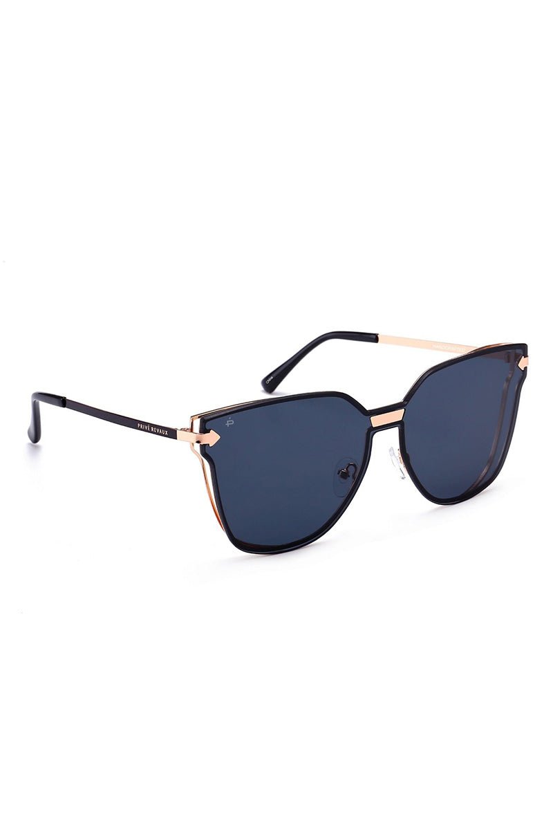 PRIVE REVAUX The Madam Wayfarer Sunglasses - Black Sunglasses | Black| Prive Revaux The Madam - Black