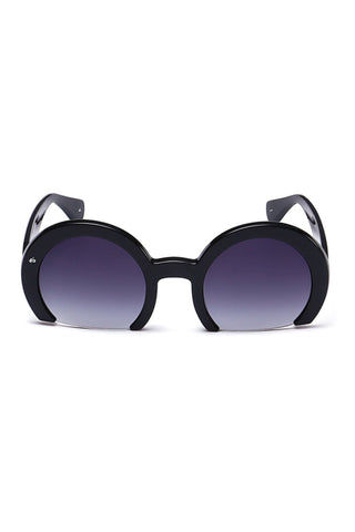 PRIVE REVAUX The Milf Oversized Half Rim Sunglasses - Black Sunglasses | Black/Tortoise| Prive Revaux The Milf