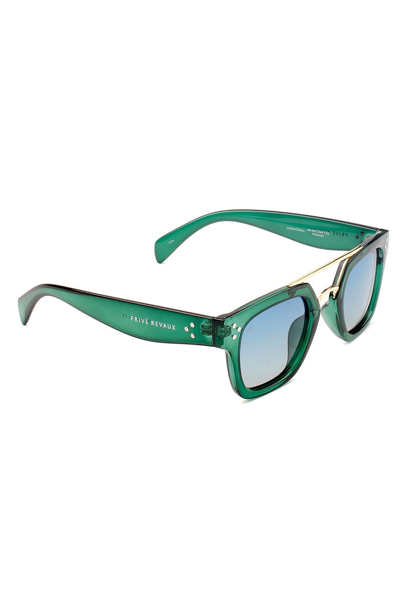 PRIVE REVAUX The Foxx - Green Sunglasses | Green| Prive Revaux The Foxx- Green