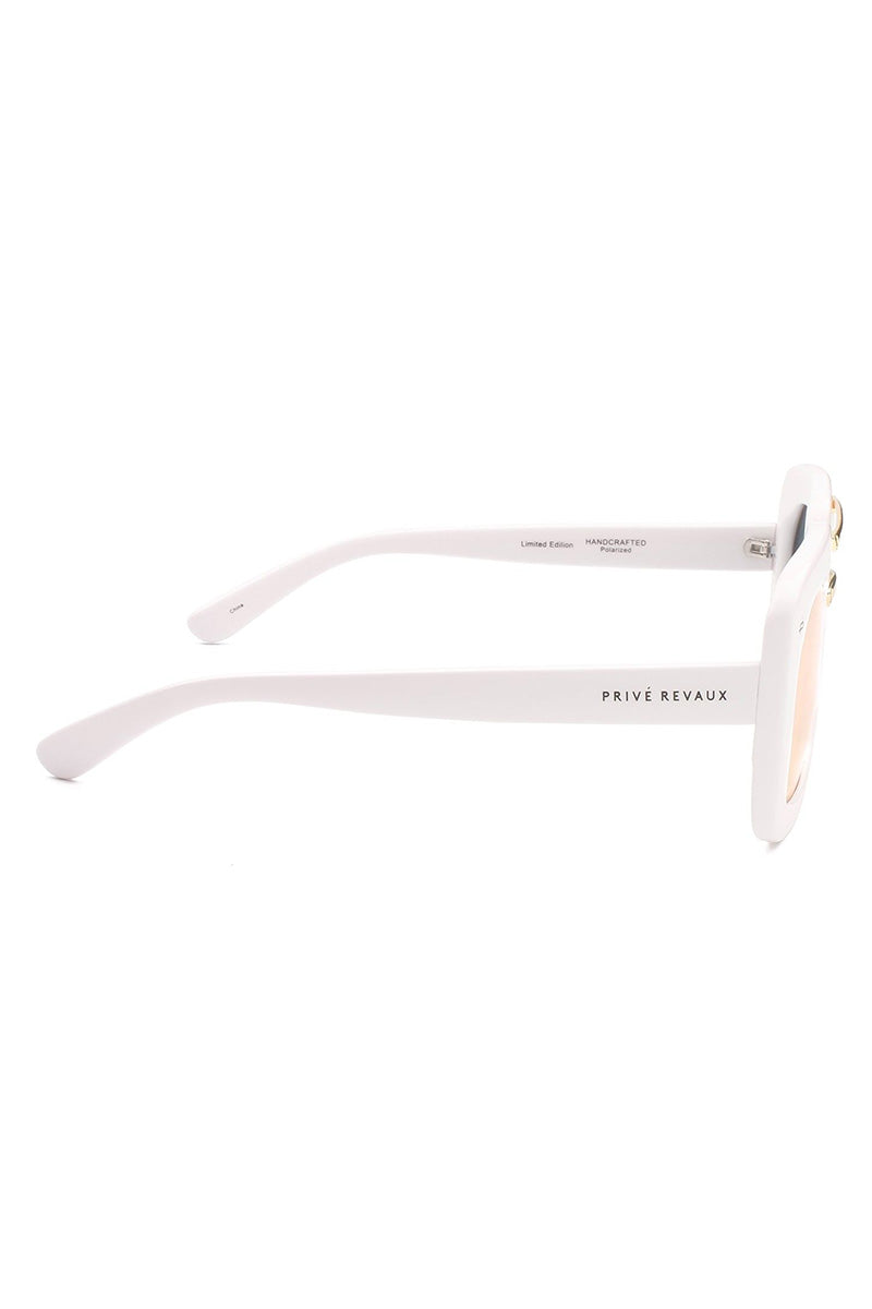 PRIVE REVAUX The Karl Oversized Square Polarized Sunglasses - White Sunglasses | White| Prive Revaux The Karl - White