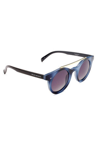 PRIVE REVAUX The Reagan Unisex Round Aviator Sunglasses - Blue/Black Sunglasses | Blue/Black| Prive Revaux The Reagan