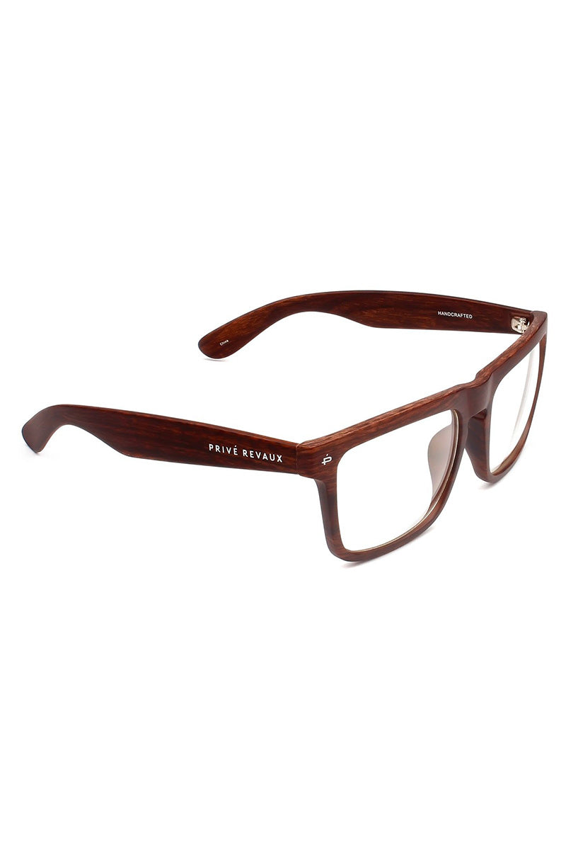 PRIVE REVAUX The Savant Woodgrain Polarized Unisex Glasses - Brown Sunglasses | Brown| Prive Revaux The Savant