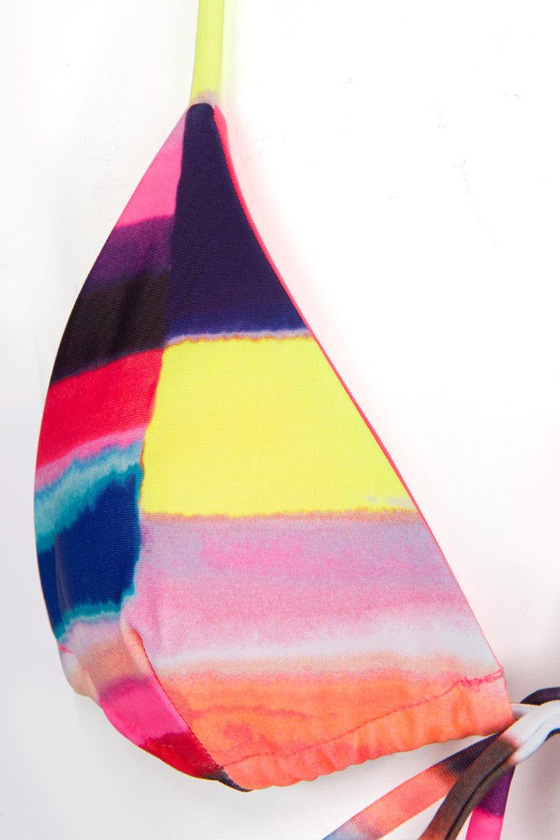 MARA HOFFMAN Tie Front Triangle Bikini Top - Solstice Bikini Top | Solstice|