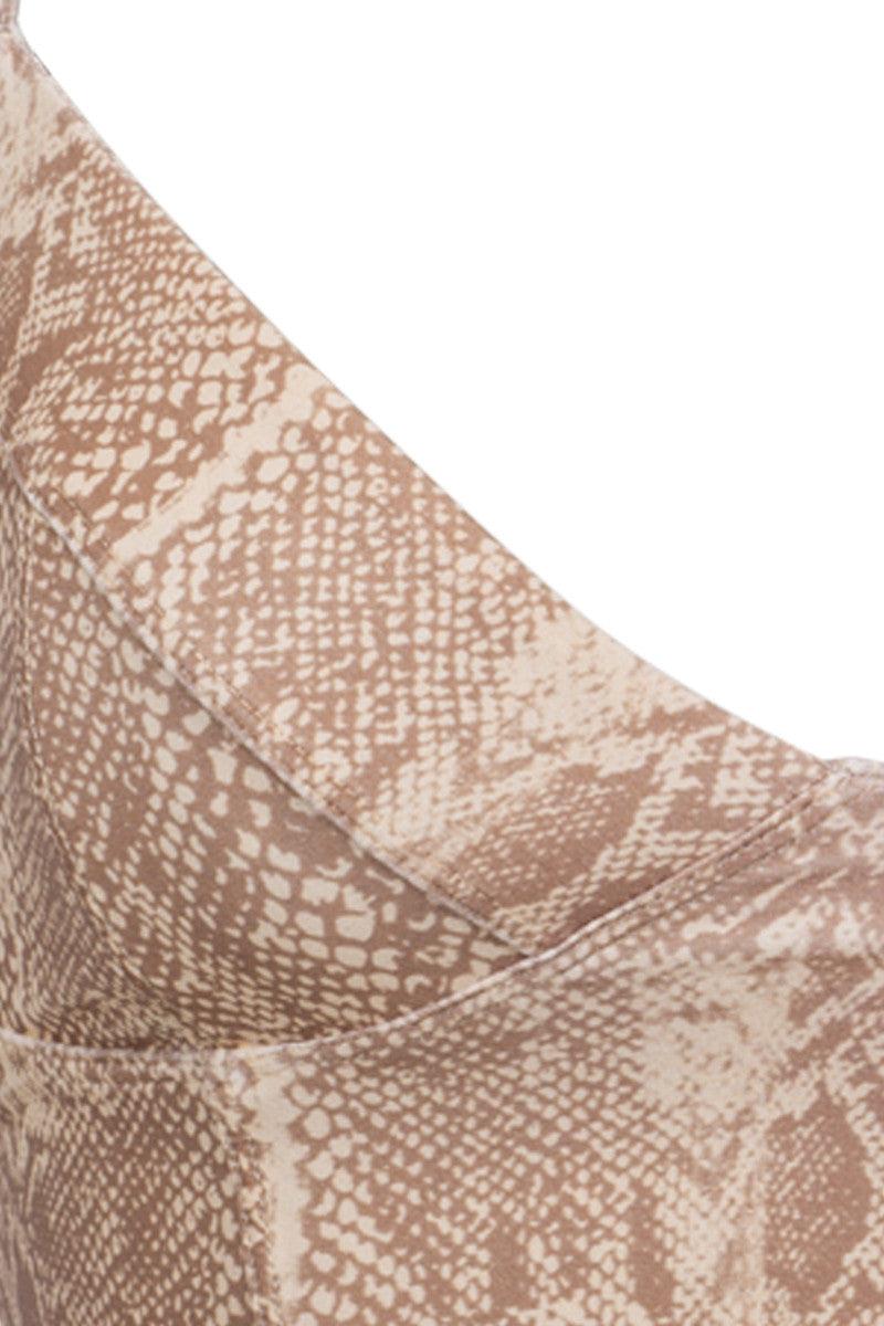 TORI PRAVER Jess Top Bikini Top | Snake Naked| Tori Praver Jess Top