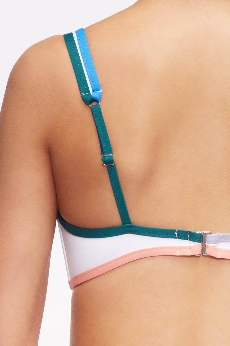 TAVIK Marlowe Bikini Top - White/Coral Bikini Top | White/Coral| Tavik Marlowe Bikini Top Front View