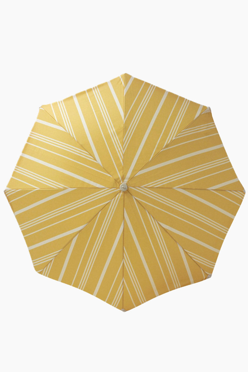 """BUSINESS AND PLEASURE CO Premium Beach Umbrella - Vintage Yellow Pool Accessories 