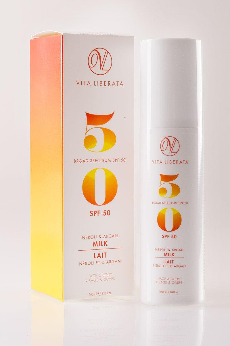 VITA LIBERATA Neroli & Argan Milk SPF 50 Sunscreen Beauty | Opaque|