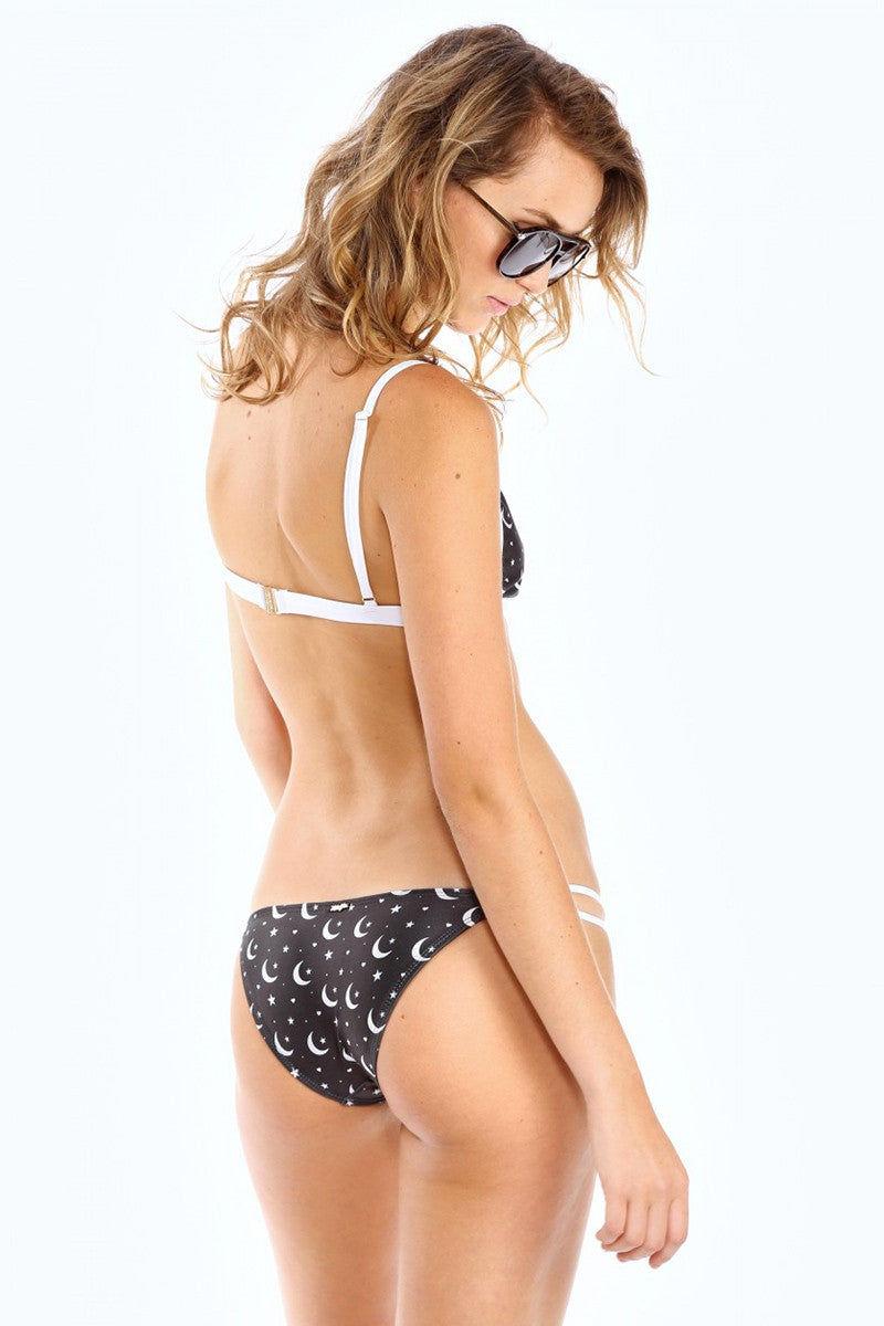 WILDFOX Moon & Star Triangle Bra Top Bikini Top | Moon Star Print|