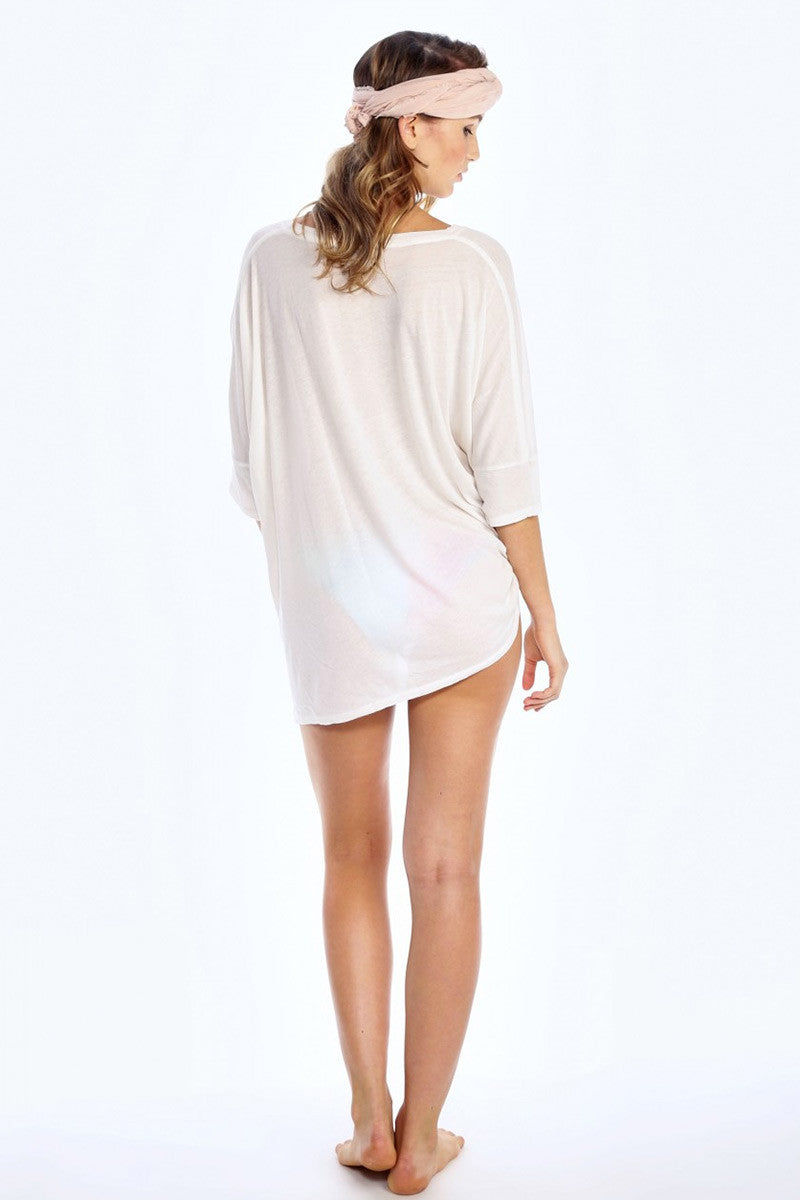 WILDFOX Coconut Sunday Morning Tee Top | Vintage Lace|