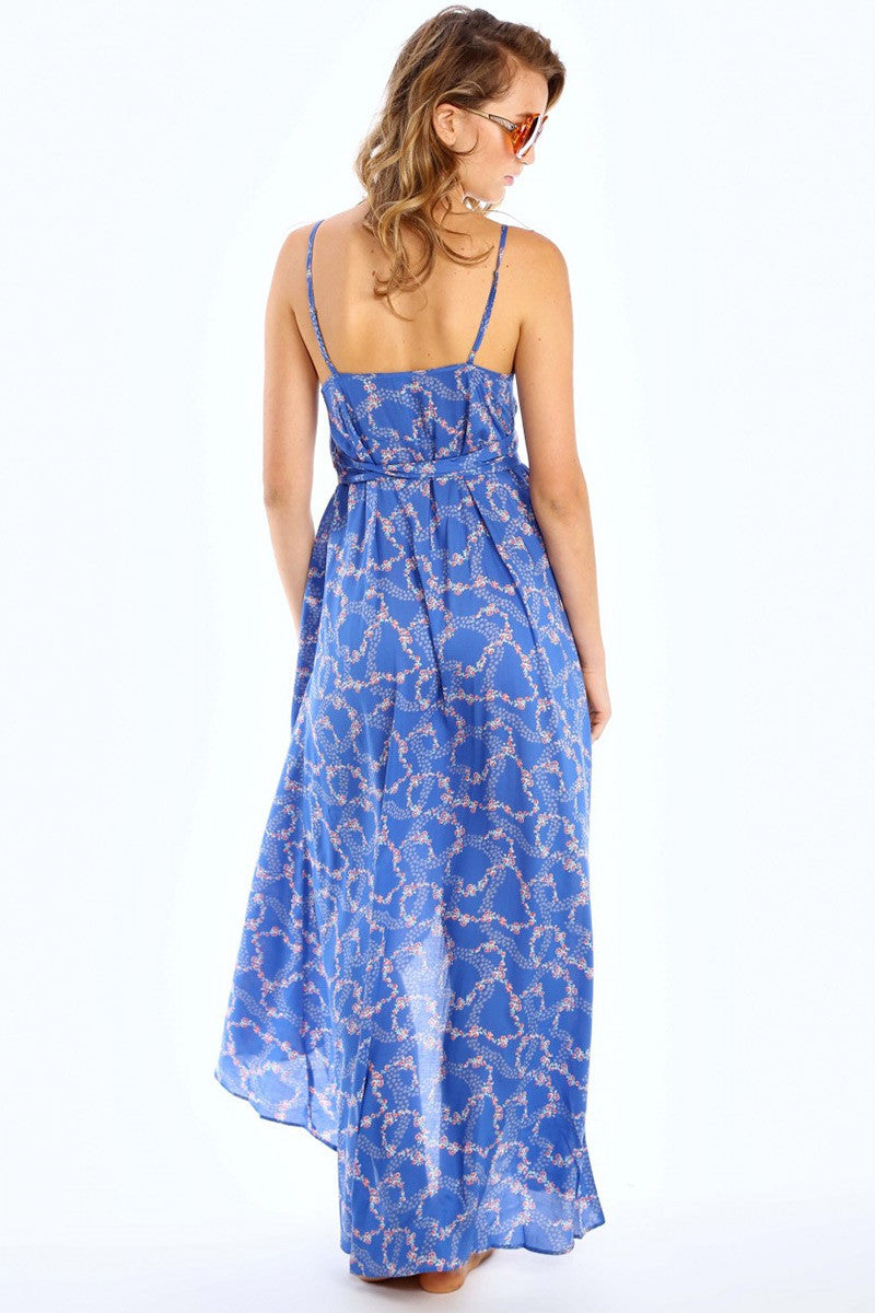 WILDFOX Atlantis Dress Dress | Starry Blue Floral|