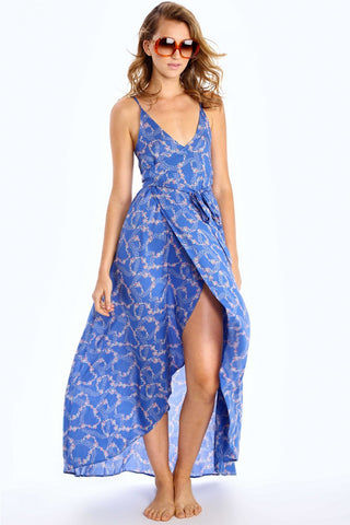 WILDFOX Atlantis Dress Dress | Starry Blue Floral| Wildfox Atlantis Dress