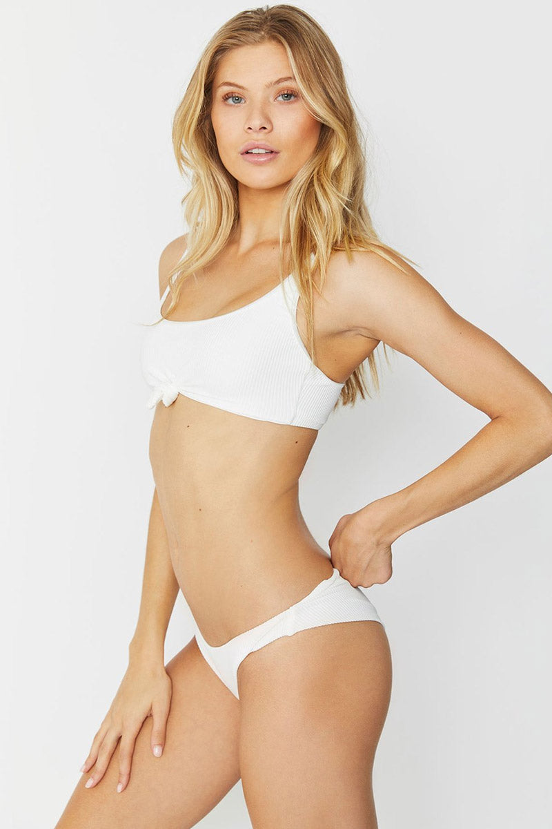 FRANKIES BIKINIS Greer Bikini Top - White Bikini Top | White| Frankies Bikinis Greer Bikini Top
