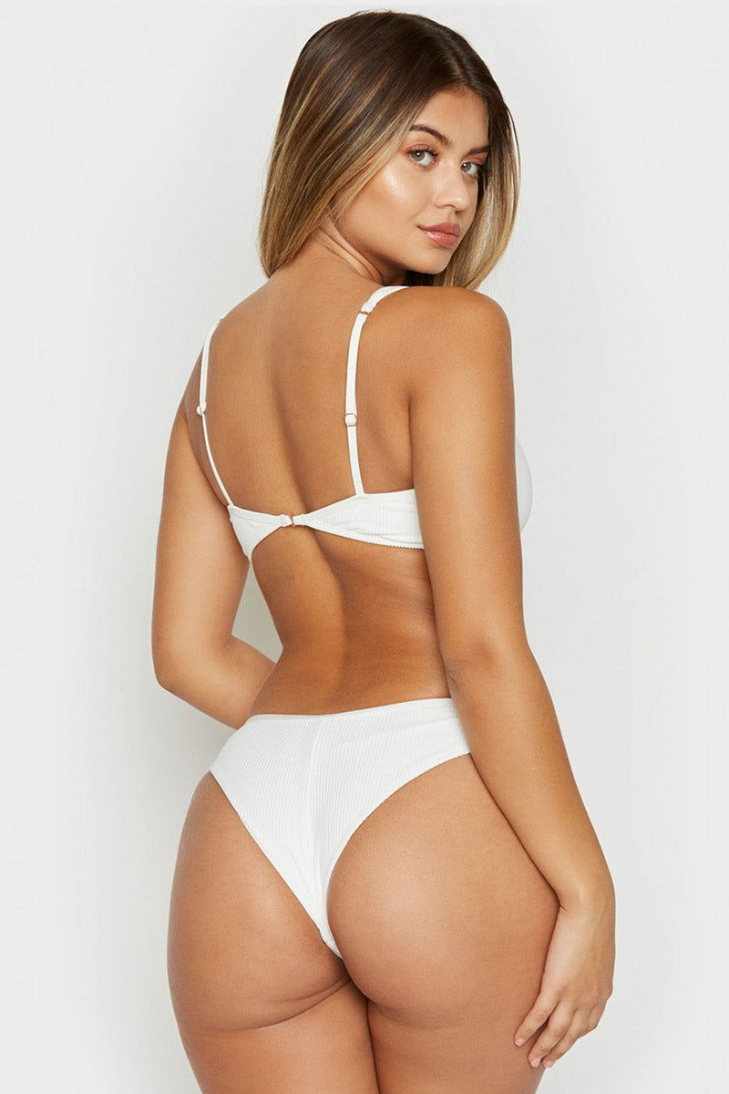 FRANKIES BIKINIS Alana Bottom - White Bikini Bottom | White| Alana Bottom