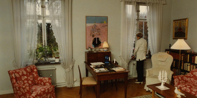 Astrid i sin lägenhet på Dalagatan 46
