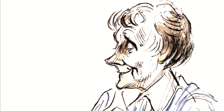 Emil och Astrid tecknade av Björn Berg