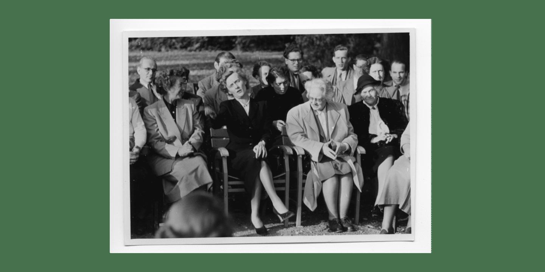 Astrid Lindgren och Louise Hartung