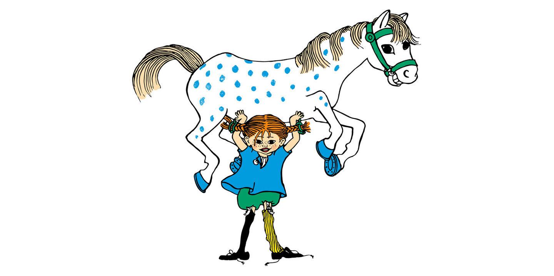 Pippi lyfter hästen