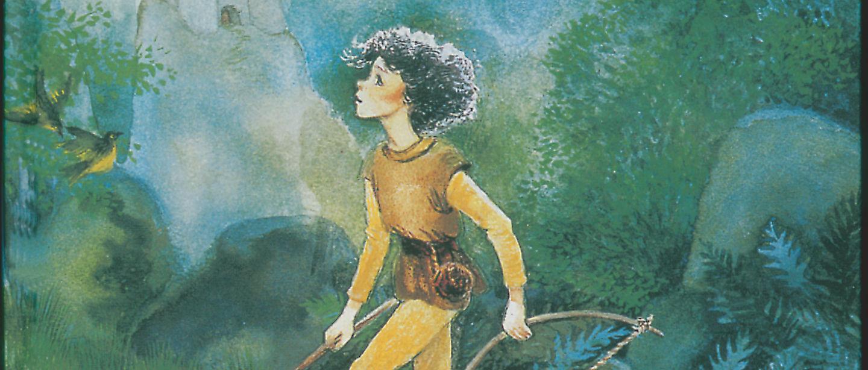 Ronja Rövardotter i skogen
