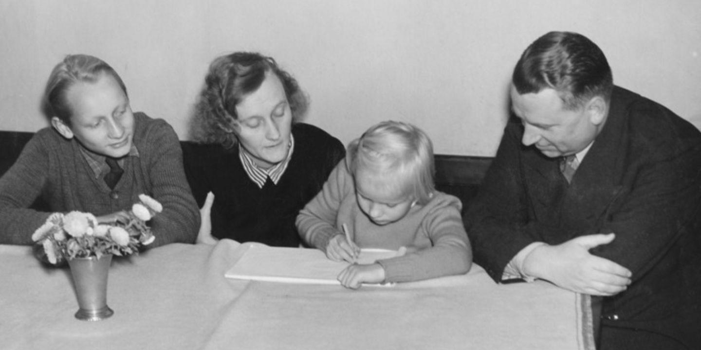 Lasse, Astrid, Karin och Sture