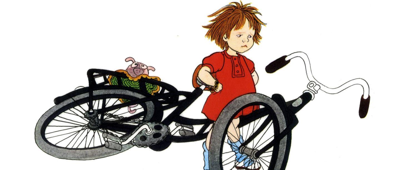 Lotta med cykel