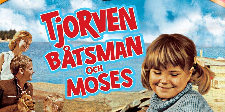 Film poster Tjorven, Båtsman och Moses