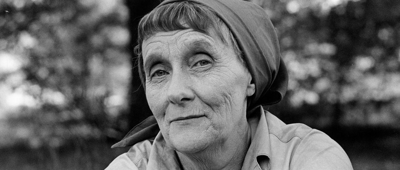 Närbild på Astrid Lindgren