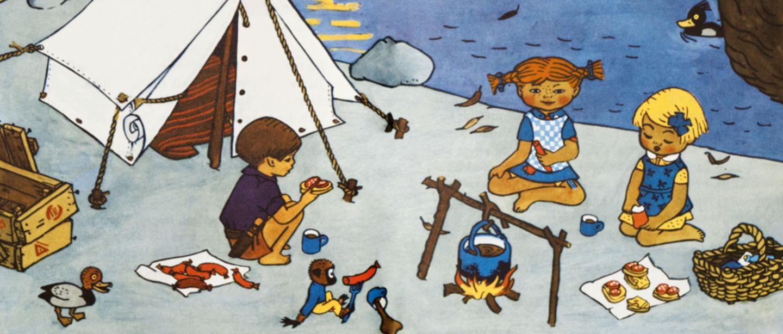 Pippi vid lägerelden