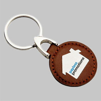 Cheap Custom Engraved or Printed Promotional Keyrings