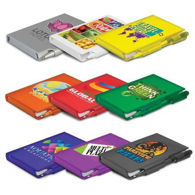 100495 Pocket Rocket Custom Notepads With Pen - 80 Pages