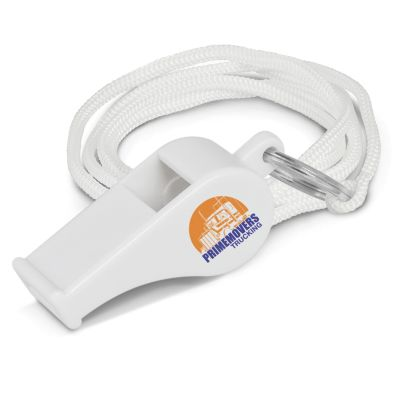 100636 Plastic Sports Whistles With Lanyard