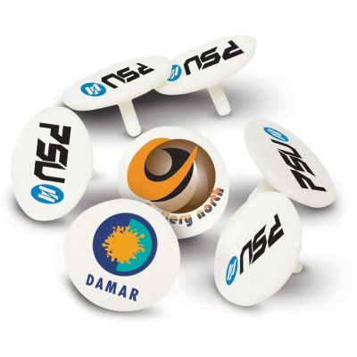 100648 Plastic Logo Golf Ball Markers