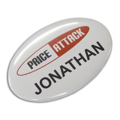 104784 (65 x 45mm) Oval Printed Button Badges - Short Run