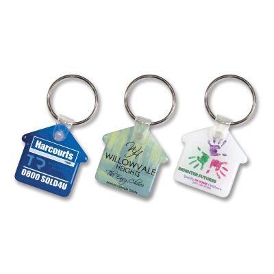 105796 Flexi Resin House Soft Promotional Plastic Key Tags